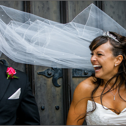 Smile from a veil