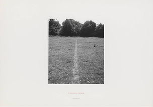 Richard Long, 1967, The Line Made by Walking, Land Art