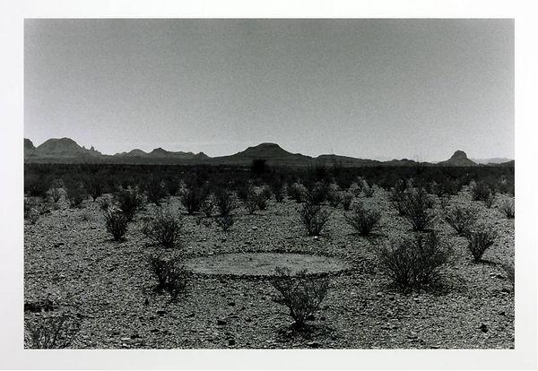 Richard Long, 1990, Silence Circle Big Bend Texas, Land Art