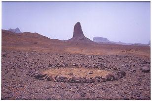 Richard Long, 1988, Sahara Circle, Land Art