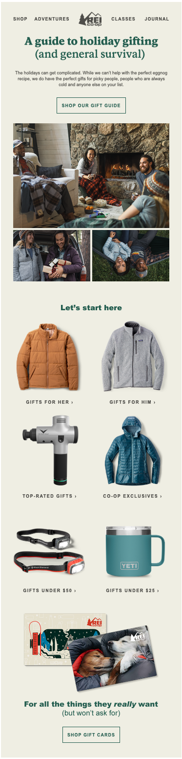 REI holiday gift guide
