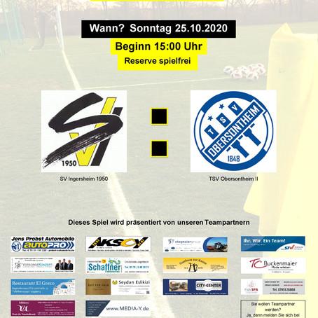 SVI empfängt den TSV Obersontheim II
