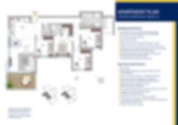 5 rooms apartment model B plan