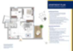 3 rooms apartment model D plan
