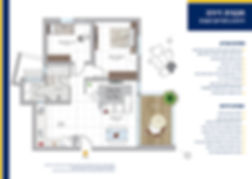 תכנית ומפרט דירת 3 חדרים דגם D