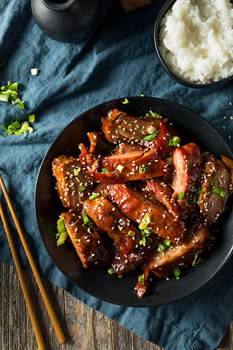 Homemade Chinese BBQ Pork Ribs with Rice