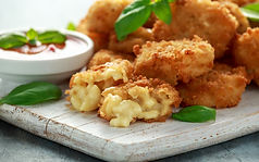 Fried Mac, macaroni and Cheese Bites in