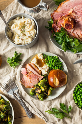 Homemade Glazed Holiday Ham Roast with All the Sides.jpg