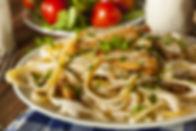 Homemade Fettucini Aflredo Pasta with Ch