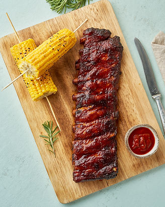 Barbecue pork ribs. Slow cooking recipe.