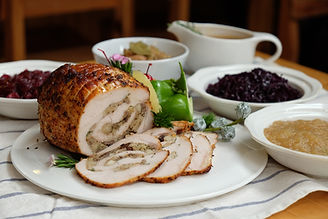 Roast Turkey Breast with Stuffing, Gravy