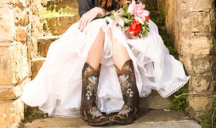 cowboy boots & wedding dress.jpg