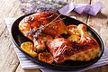 Delicious food: grilled glazed chicken l