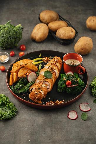 Creamy Chicken Cordon Bleu with Broccoli