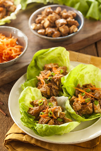 Healthy Asian Chicken Lettuce Wrap with