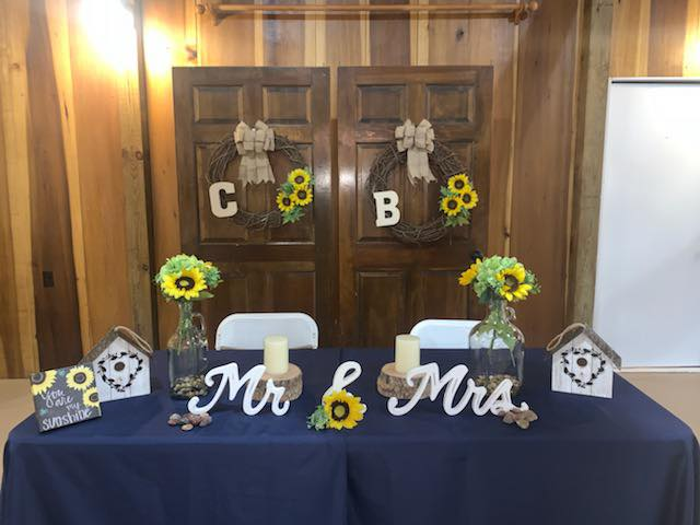 Bride & Grooms Table