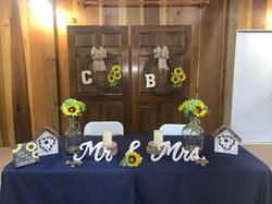 Bride & Grooms Table