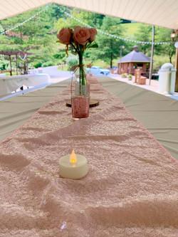 Preparing Reception Table