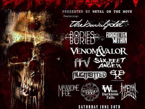 I.T.V. will be performingat The 5th annual Metalpalooza @Herman's Hideaway June 30th. Proceedsfro