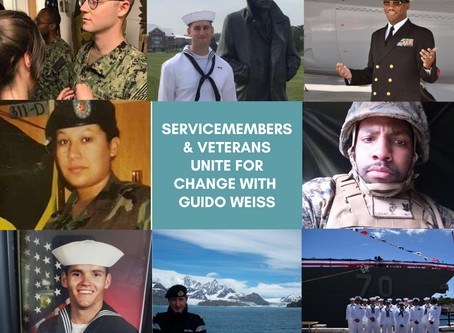 Guido Unites with Servicemembers & Veterans for Change