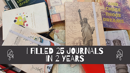 I filled out 25 journals in 2 years
