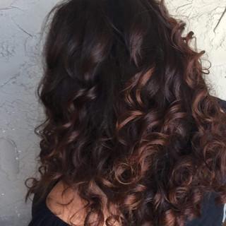 Balayage on curls