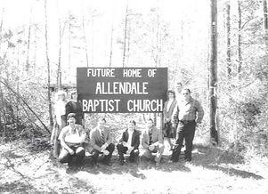 Building site of origional members of allendale baptist church