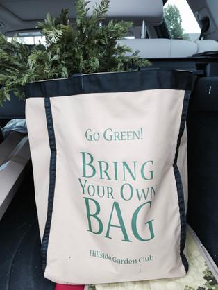 Hillside Garden Club's Go Green Bring Your Own Bag Initiative