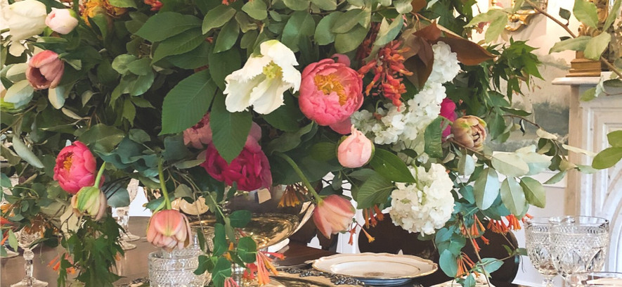 Floral Arrangement at the Sweet Briar House for Garden Day 2019