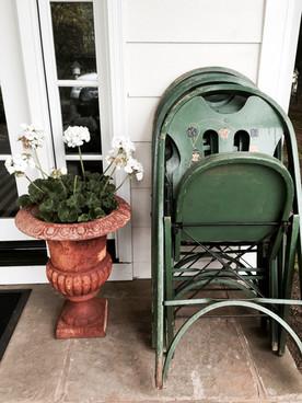 Hillside Garden Club Member's front entry urn w/ florals