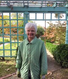 Hillside Garden Club Member at the historic Anne Spencer garden
