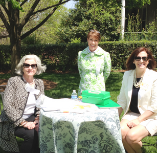 Hillside Garden Club Members welcoming visitors to Garden Day in Lynchburg