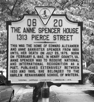 Anne Spencer House Sign