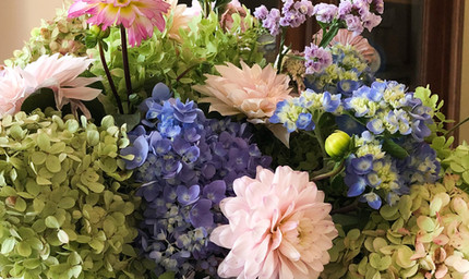 Floral Arrangement at Hillside Garden Club Member's home