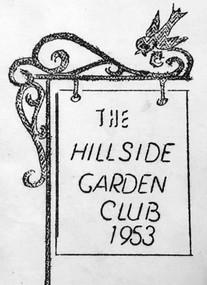 Early logo of the Hillside Garden Club 1953