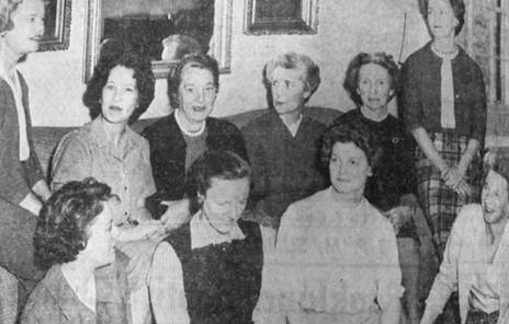 Newspaper Clipping of Hillside Garden Club Members meeting to discuss Historic Garden Week