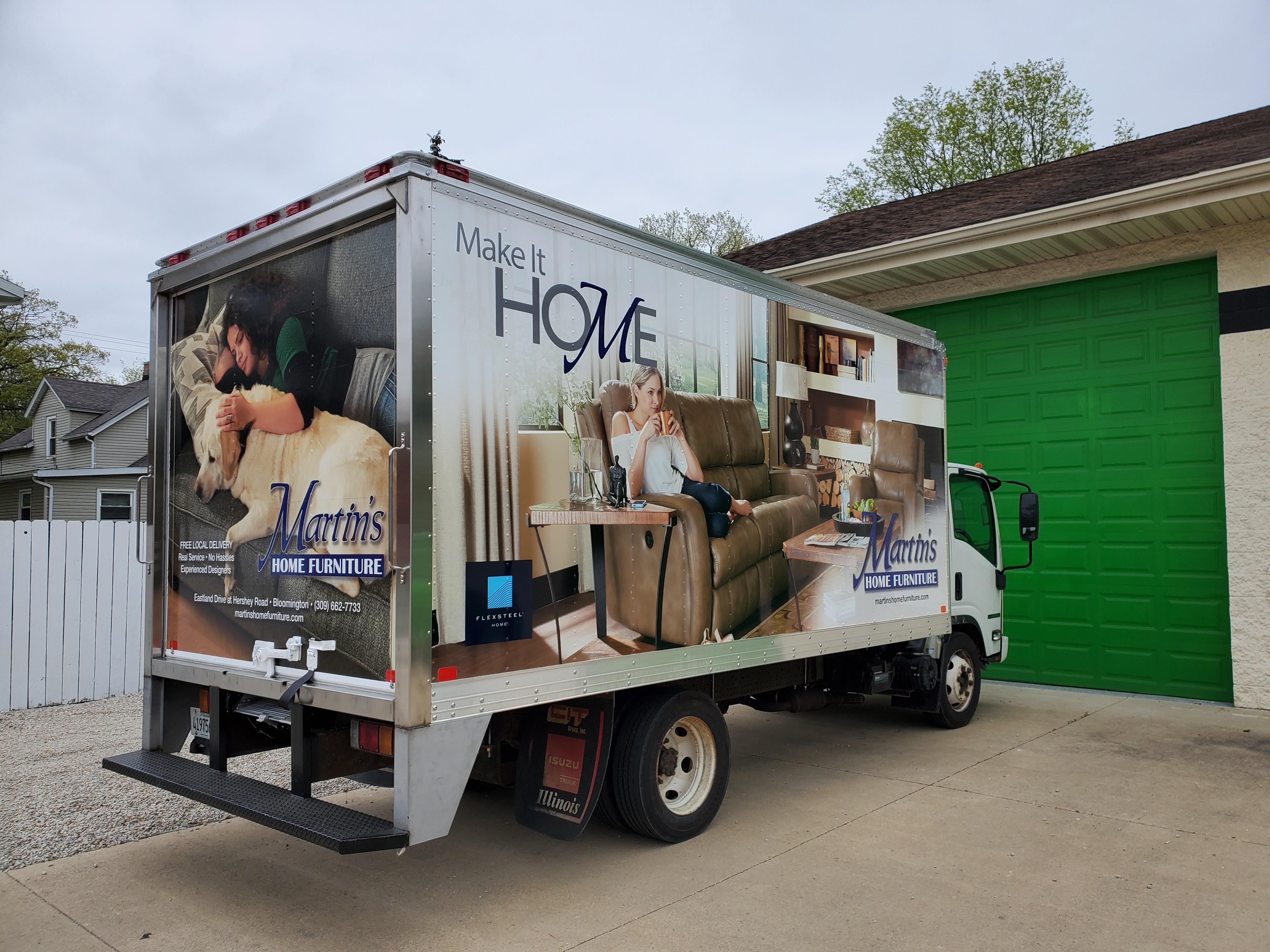 Box Truck Wrap Graphics