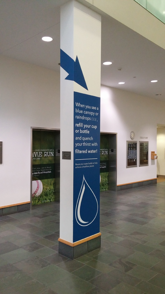 custom column wrap graphic campaign hosp