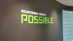 Acrylic dimensional letters graphics custom illinois