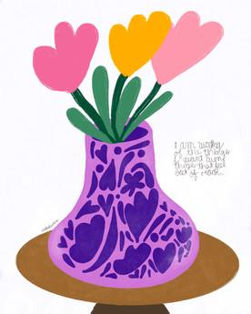 Purble vase
