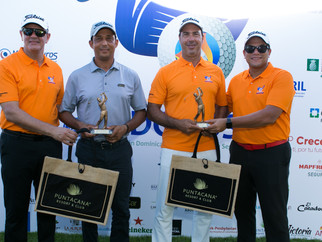 Cesar Rodríguez y Marcel Olivares,  Campeones 5to. Torneo de Golf ADOCOSE
