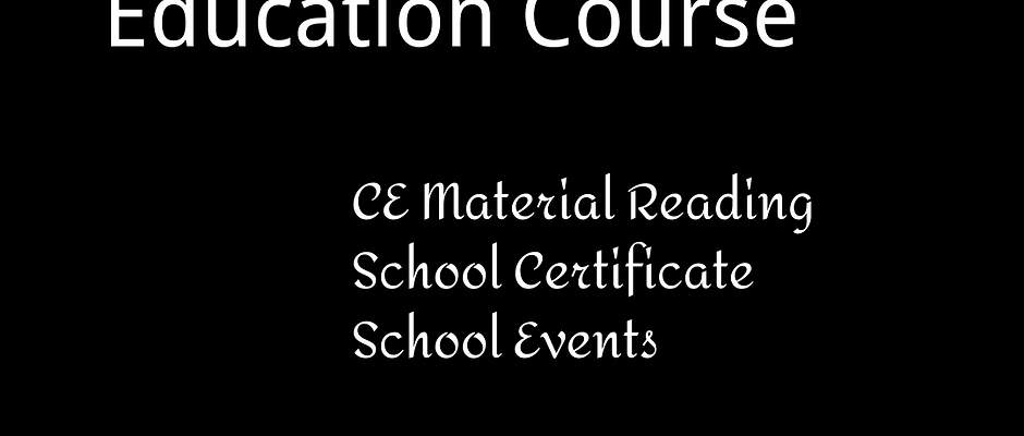 Continuing Education Course