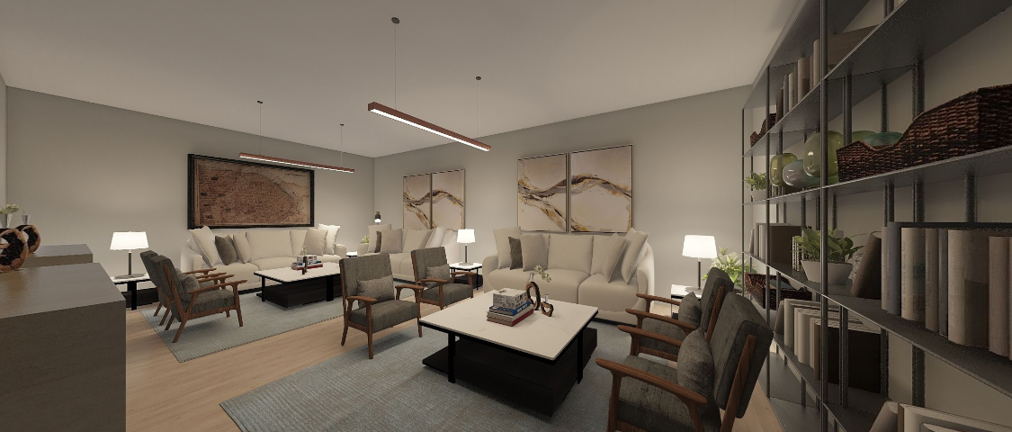 Rendering for commercial lounge