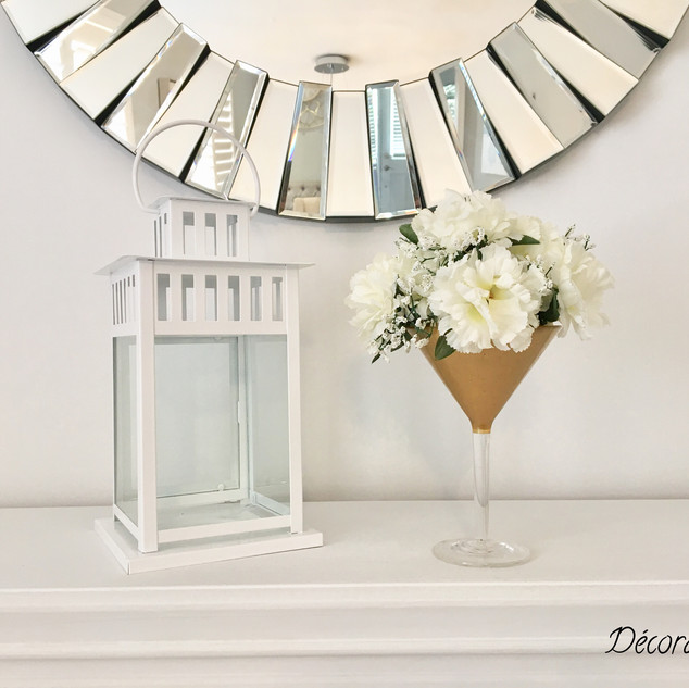 Candle Holder + Flower Glass