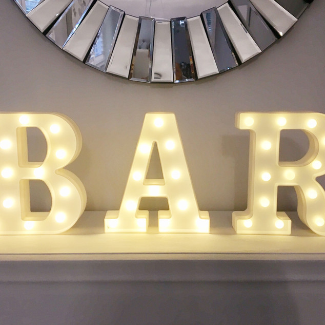 Lighted BAR sign