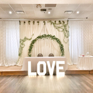 Backdrop w/ Integrated Moonflower Arch