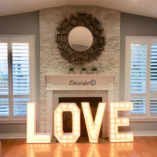 Giant Marquee LOVE Sign