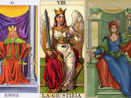 Carta do Tarot - A Justiça