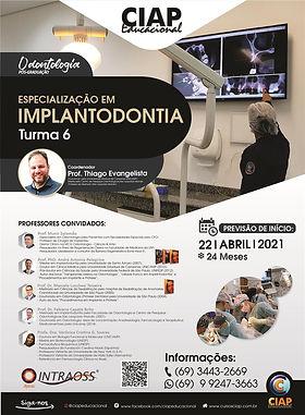 Especialização Implantodontia Abril 2021