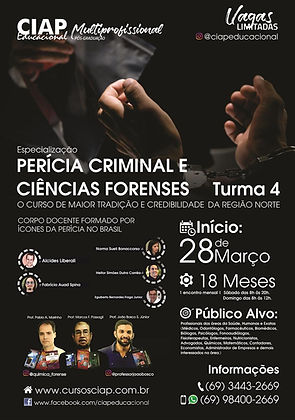 Especialização Perícia Criminal - Março